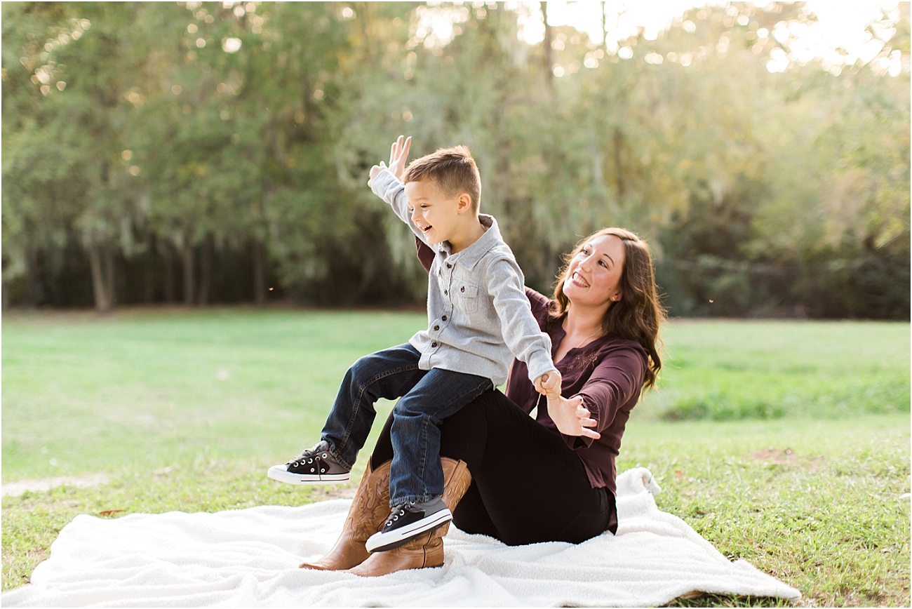 Outdoor Mother and Son Photography with legos