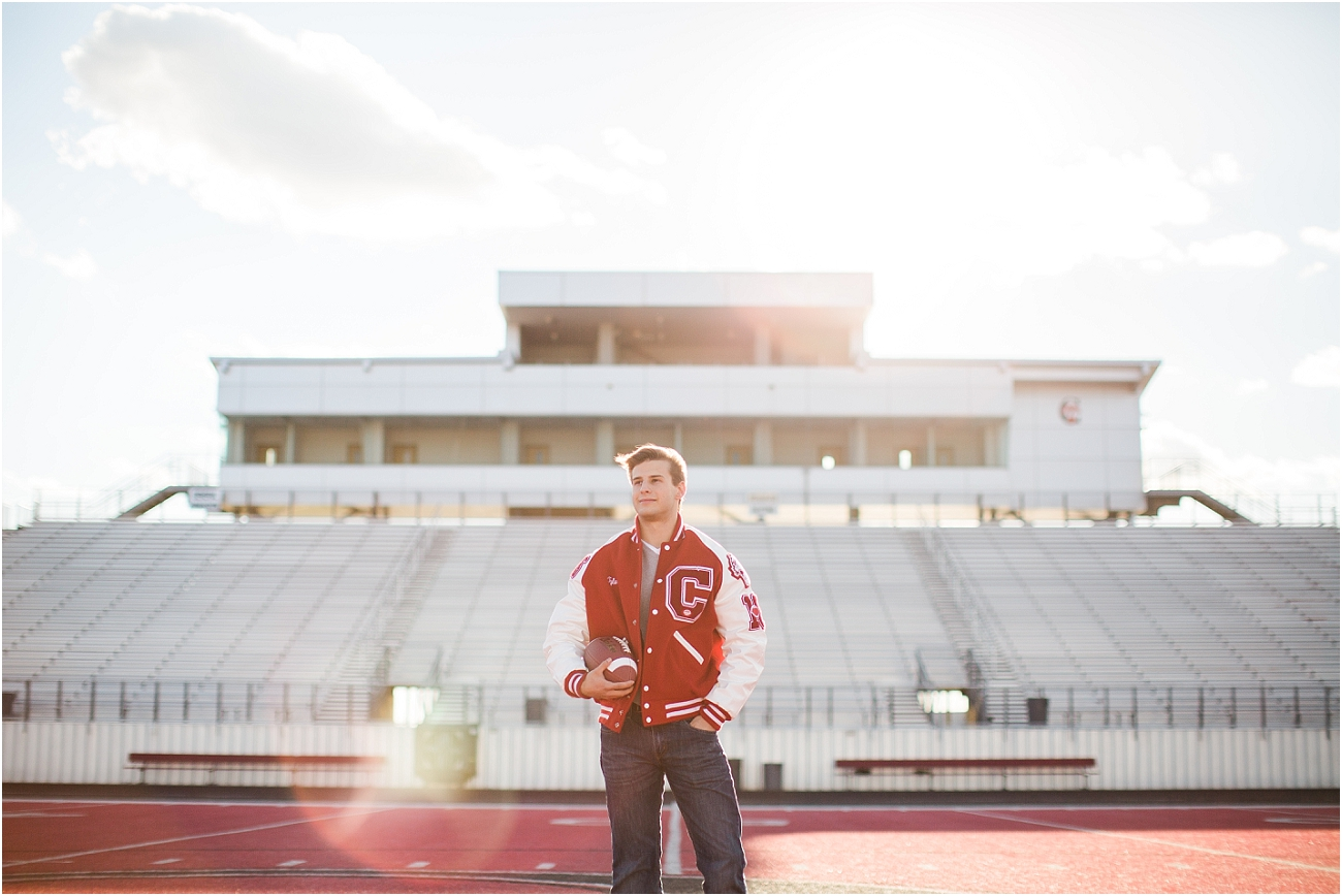 Canyon Cougars Senior Football Session - Houston TX Senior Photography_12
