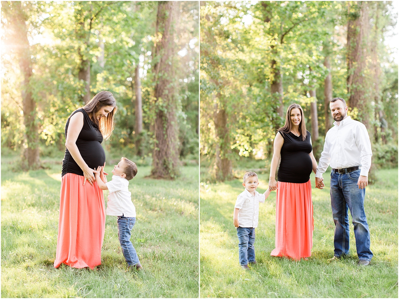 Forest Oaks Park Houston Outdoor Family Maternity Session_14