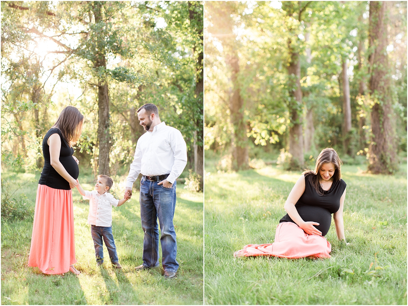 Forest Oaks Park Houston Outdoor Family Maternity Session_16